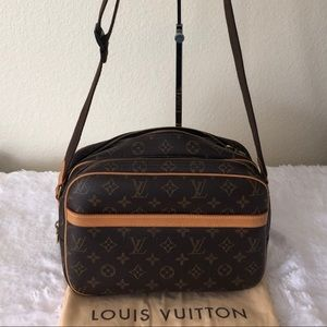 Louis Vuitton Reporter Mono Canvas Messenger Bag